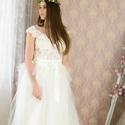 Menyasszonyi ruha, Ruha, divat, cipő, Esküvői ruha, Bodyból és tüllszoknyából álló ruha.  38 méret., Meska