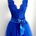 Kék csipke tüll ruha, Esküvő, Ruha, divat, cipő, Menyasszonyi ruha, Esküvői ruha, Csipke body +tülkszoknya, Meska