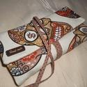 Textil ékszertartó mexikói koponya, Ékszer, óra, Ékszertartó, Varrás, Praktikus utazáshoz vagy csak a hétköznapokra. Tökéletes ajándék!  A hátsó nagy zsebbe belefér óra,..., Meska