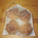 """Vászon-organza zsák pékáru vásárlásához, """"M""""-es méret (25 x 30cm), Tegyél Te is egy lépést a környezettudatosság..."""