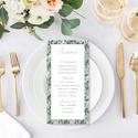 Esküvői menülap, menülap, divatos, greenery stílus, kövirózsás,, Esküvő, Esküvői dekoráció, Meghívó, ültetőkártya, köszönőajándék, D I V A T O S G R E E N E R Y S T Í L U S Ú E S K Ü V Ő I M E N Ü L A P   Esküvői menülap ig..., Meska