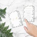Greenery stílusú esküvői meghívó, letisztult, akvarell hatású levelekkel, Esküvő, Esküvői dekoráció, Meghívó, ültetőkártya, köszönőajándék, L E T I S Z T U L T  G R E E N E R Y   S T Í L U S Ú   E S K Ü V Ő I   M E G H Í V Ó  Esküvő..., Meska
