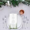 Erdei esküvői menülap, greenery stílusú, esküvői menülap, greenery menülap, zöld menülap, akvarell hatású, Esküvő, Meghívó, ültetőkártya, köszönőajándék, Esküvői dekoráció, E R D E I A K V A R E L L H A T Á S Ú E S K Ü V Ő I M E N Ü L A P  Esküvői menülap igényes ..., Meska