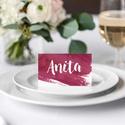 Bordó esküvői ültetőkártya, akvarell ültetőpkártya, bordó ültetőkártya, esküvői ültetőkártya, Esküvő, Meghívó, ültetőkártya, köszönőajándék, Esküvői dekoráció, A R E L L H A T Á S Ú B O R D Ó E S K Ü V Ő I Ü L T E T Ő K Á R T Y A  Esküvői ültetőká..., Meska