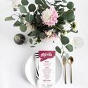 Bordó esküvői menülap, akvarell menülap, bordó menülap, esküvői menülap, Esküvő, Meghívó, ültetőkártya, köszönőajándék, Esküvői dekoráció, A R E L L H A T Á S Ú B O R D Ó E S K Ü V Ő I M E N Ü L A P   Esküvői menülap igényes kial..., Meska