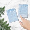 Kék esküvői meghívó, akvarell meghívó, kék meghívó, esküvői meghívó, felhő, Esküvő, Meghívó, ültetőkártya, köszönőajándék, Esküvői dekoráció, A R E L L H A T Á S Ú K É K E S K Ü V Ő I M E G H Í V Ó   Esküvői meghívó igényes kialak..., Meska