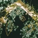 Geometrikus dísz, arany, esküvő, dekor, lakberendezés, design, Esküvő, Dekoráció, Esküvői dekoráció, Dísz, G E O M E T R I K U S D E K O R  Kézzel készitett arany geometrikus esküvői dekorok.  Méret: 5x..., Meska