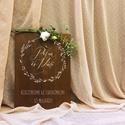 Esküvői tábla, üdvözlő tábla, köszöntő tábla, fa tábla, E S K Ü V Ő I D E K O R Á C I Ó S T Á B L A  ...