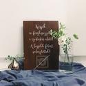 Esküvői tábla, fa tábla, fotó tábla, ne fényképezz, E S K Ü V Ő I D E K O R Á C I Ó S T Á B L A  ...