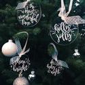 ÚJ!!! Karácsonyfadísz, karácsony, dísz, karácsonyfa, ajándék, Dekoráció, Karácsonyi, adventi apróságok, Karácsonyfadísz, Karácsonyi dekoráció, E G Y E D I   K É Z Z E L   Í R T   K A R Á C S O N Y F A D Í S Z  Egyedi, ünnepi karácsonyfad..., Meska