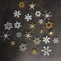 ÚJ!!! Karácsonyfadísz, karácsony, dísz, karácsonyfa, ajándék, gyöngy, csillag, hópehely, Dekoráció, Ünnepi dekoráció, Karácsonyi, adventi apróságok, Karácsonyfadísz, Karácsonyi dekoráció, E G Y E D I   K É Z Z E L   K É S Z Í T E T T   K A R Á C S O N Y F A D Í S Z   Egyedi, ünnepi..., Meska