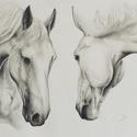 Ló portré, Képzőművészet, Grafika, Rajz, Fotó, grafika, rajz, illusztráció, Kedvenc, lovakról készült rajzom A/3-as méretű félfamentes lapra készült 6H-4B-s graffitceruzák fel..., Meska