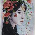 """Ázsia sorozat - """"Tavasz"""", Képzőművészet, Festmény, Festmény vegyes technika, Festészet, Ázsia szerelmeseként kezdtem neki a jó néhány képből álló sorozatomnak, melynek első képviselőjét n..., Meska"""