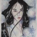 """Ázsia sorozat - """"Tél"""", Képzőművészet, Festmény, Festmény vegyes technika, Festészet, Ázsia sorozatom második képviselője a Tél :)  Ugyan csak - pont mint a """"társa"""" - A/3-as méretű akva..., Meska"""