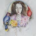 Ázsia sorozat - Antik, Képzőművészet, Festmény, Akvarell, Festészet, Kis kiugróként félretéve az évszakokat, de ugyan csak az ázsiai vonalnál maradva alkottam meg egy k..., Meska
