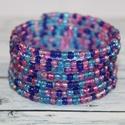 Kék lila áttetsző tarka memória karkötő, Ékszer, óra, Mindenmás, Karkötő, igazán divatos nyári, tarka memória karkötő. A belső átmérője 5,7 cm, de szinte minden csuklóméretre..., Meska