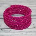 Egyszínű pink memória karkötő, Ékszer, Mindenmás, Karkötő, Az egyszerűséget kedvelőknek.  Egy igazán divatos nyári egyszínű pink színű memória karkötő. A belső..., Meska