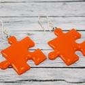 Naracs puzzle fülbevaló, Ékszer, óra, Fülbevaló, Hőre keményedő gyurmából készült puzzle fülbevaló. Mérete 2,5x2,5  Bármilyen színben rendelhető.  Sa..., Meska