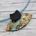Elegáns türkiz arany nyaklánc, Ékszer, Nyaklánc, Különleges technikával készült üveg hatású nyaklánc, mégsem törékeny és nagyon könnyű elegáns, alkal..., Meska