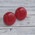 Piros bedugós pötty fülbevaló, Ékszer, óra, Fülbevaló, Hőre keményedő gyurmából készült piros bedugós pötty fülbevaló. Mérete 1,5 cm,  de boltomban megtalá..., Meska