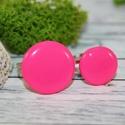 Anya-lánya gyűrű szett,pink, Baba-mama-gyerek, Ékszer, óra, Ruha, divat, cipő, Gyűrű, Üveg hatású pink anya-lánya gyűrű szett. Hőre keményedő gyurmából készült, melyet egy műgyanta réteg..., Meska