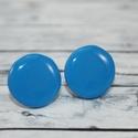 Kék bedugós pötty fülbevaló, Hőre keményedő gyurmából készült kék bedug...