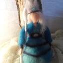 Tél királyné, Baba-mama-gyerek, Dekoráció, Otthon, lakberendezés, Waldorf jellegű, tűnemezelt technikával készült Tél királyné dekorációként az évszakaszt..., Meska