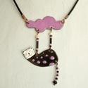 Pötyi, cicás nyaklánc, macskás medál, macskás nyaklánc, Pötyi egy igazi égi akrobata. Mindig talpra esik...