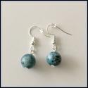 Blue spot stone ásvány fülbevaló, Ékszer, Fülbevaló, Ásvány fülbevaló, 1 cm-es, gömb alakú magas minőségű természetes féldrágakövekből. Nikkelmentes...., Meska