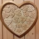 Szívhez szóló emlék, 20,5x22 cm-es szív alapot díszítettem fa szíve...