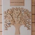 Barátfa, 22x29x1 cm-es táblát díszítettem fa elemekkel,...