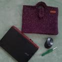 Horgolt laptop táska, Táska & Tok, Laptop & Tablettartó, Laptoptáska, Horgolás, Zsinórfonalból horgolással készült laptop táska. Mérete: a laptop méreteitől függ. 30 fokon mosható., Meska