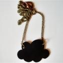 """Fekete felhő az égről - nyaklánc, Ékszer, Medál, Nyaklánc, \"""" Fekete felhő az égről, gomolyog csöndben az odúnál. Kis fekete felhő az égről, szóra se méltasd, ..., Meska"""