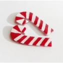Candy Cane Cukorbot Cukorpálca Karácsonyi Cukor - Bedugós Zsugorka Fülbevaló, Átlátszó zsugorkából készült, festett cukor...