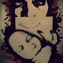 Amikor megszülettél ..., Képzőművészet, Grafika, Rajz, Festészet, Fotó, grafika, rajz, illusztráció, Trash Polka stílus irányban készült A/4-es kép idézettel. Fekete filc és piros krétával készült ezü..., Meska