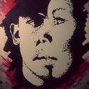 Ha valaki segít Neked ..., Képzőművészet, Grafika, Rajz, Festészet, Fotó, grafika, rajz, illusztráció, Trash Polka stílus irányban készült A/4-es kép idézettel. Fekete filc és piros krétával készült bar..., Meska