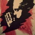 Bármlyen sötétnek is tűnik ... , Képzőművészet, Grafika, Rajz, Festészet, Fotó, grafika, rajz, illusztráció, Trash Polka stílus irányban készült A/4-es kép idézettel. Fekete filc és piros krétával készült vil..., Meska