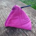 Pink  pénztárca, Táska, Pénztárca, tok, tárca, Pénztárca, Erszény, Varrás, Pink  pamut vászonból készítettem ezt a pénztárcát, tasit.  Tartsd benne kincseidet, a pénzedet vag..., Meska