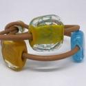 Happy colours lámpagyöngy karkötő, Ékszer, óra, Karóra, óra, A karkötő üveggyöngyeit magam készítettem muránói üvegrudakból lángégő segítségével...., Meska