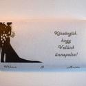 Köszönetajándék csokoládé esküvőre - pár, Esküvő, Meghívó, ültetőkártya, köszönőajándék, Papírművészet, Rendelésre készült köszönetajándék csokoládé. A nevetekkel, monogramotokkal, bármilyen mintával és ..., Meska