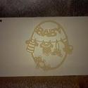 """""""Baby"""" pénzátadó boríték, Baba-mama-gyerek, Naptár, képeslap, album, Képeslap, levélpapír, Papírművészet, Pénzátadó boríték keresztelőre / névnapra / születésnapra.  Belsejében zseb található az ajándéknak..., Meska"""