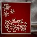 """""""Merry Christmas"""" karácsonyi képeslap, Naptár, képeslap, album, Dekoráció, Képeslap, levélpapír, Ünnepi dekoráció, Papírművészet, """"Merry Christmas"""" karácsonyi képeslap.  Mérete: 15,5 x 15 cm.  A szállítási költség tájékoztató jel..., Meska"""