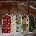 Ajándékkísérő kártya, Dekoráció, Karácsonyi, adventi apróságok, Naptár, képeslap, album, Ünnepi dekoráció, Ajándékkísérő, képeslap, Ajándékkísérő, Papírművészet, Színes scrapbook papírral díszített egyedi ajándékkísérő, melynek hátoldalára karácsonyi gondolatok..., Meska