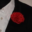 Taft  virágkitüző Ingyen postával 9 színben, Dekoráció, Esküvő, Ruha, divat, cipő, Taft virág kitűző brosstűvel ellátva zakóra,ruhára,táskára,lakás dekorációnak piros szí..., Meska