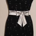 Masnis ezüst szaténöv, Ruha, divat, cipő, Esküvői ruha, Öv, Ezüst színű szaténöv masnival a kis feketére. Méretre rendelhető!, Meska