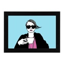 coffeegirl, Dekoráció, Képzőművészet, Otthon, lakberendezés, Illusztráció, Fotó, grafika, rajz, illusztráció, Coffeegirl. Tollrajzról készült egyedi digitális nyomat.  Inspiráció: Coffee - black like my soul. ..., Meska