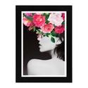 """Girl with the flower hat, Dekoráció, Képzőművészet, Otthon, lakberendezés, Illusztráció, Fotó, grafika, rajz, illusztráció, Girl with the flower hat Digitális nyomat.  Inspiráció: """"If I'm honest I have to tell you I still r..., Meska"""