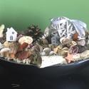 Csónaktálas asztaldísz