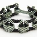 Peyote square karkötő, Ékszer, Karkötő, Delica gyöngyökből készült, 3D négyzetekből álló karkötő. Különleges és egyedi kiegés..., Meska