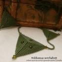 Avokádó piramis nyaklánc , Ékszer, Nyaklánc, Zöld szín,szabályos geometrikus formák.Egy egyszerűbb fazonú nyaklánc,mely mindenhez jól pas..., Meska